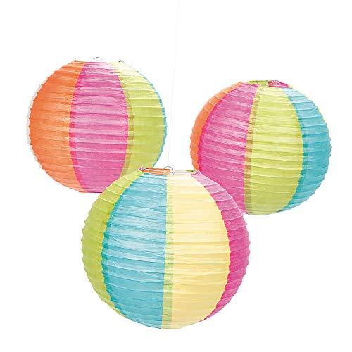 Beach Ball Hanging Lanterns (6 piece set)