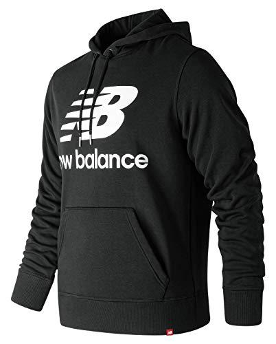 New Balance Herren Hoodie Essential Stacked Logo Hoodie, bk Black, S, MT91547