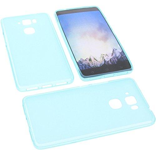 foto-kontor Tasche für MEDION Life X5520 Gummi TPU Schutz Handytasche blau
