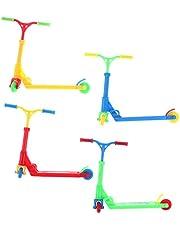 4 szt. mini palec zabawki do roweru, hulajnoga palec model ozdoby śmieszne zabawki na palec prezenty świąteczne urodzinowe dla chłopców i dziewcząt