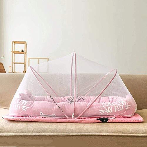 ZKHD Tienda De Viajes para Bebé, Cama para Bebé Cuna Plegable Cuna Cuna Cuna Cuna Mosquito Net Tent con Almohada, Cunas De Viaje Pop Up Playa Tienda De Playa Mosquitera Net
