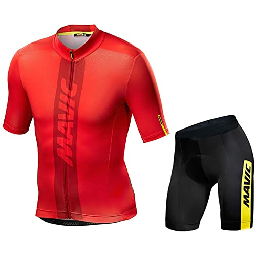 OJKYK Cycling Suits Mens Mountain Bike Jersey Shorts For Men Breathable Stretchy 19d Padded Cycle Top Bib Shorts