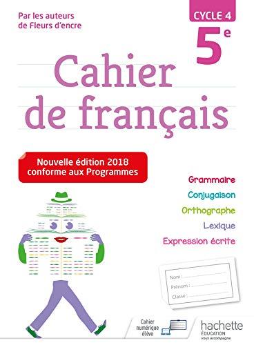 Cahier de français cycle 4 / 5e