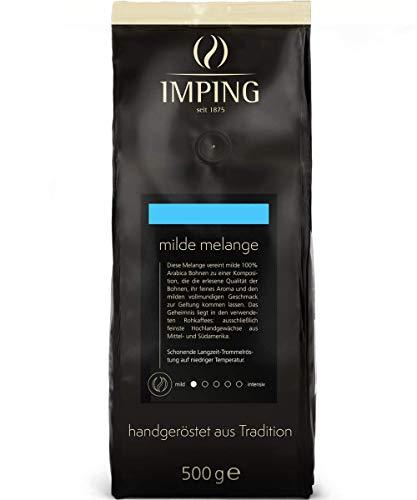 Milde Melange gemahlener Kaffee 500g - Sehr milder Filterkaffe 100% Arabica fein gemahlen - Stärke 1/5 - Heller Röstkaffee mit sanften Aroma - handgeröstet aus deutscher Traditionsrösterei