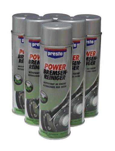 6 Dosen Power Bremsenreiniger / Teilereiniger / Entfetter Spray 500 ml
