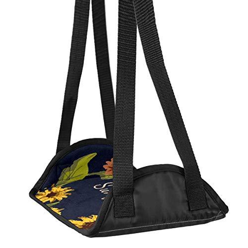 Preisvergleich Produktbild Flugzeug-Fuß-Hängematte Schreibtisch Fuß-Hängematte Reise Fußstütze Home Zubehör Beinstütze Sonnenblumenkranz 01 Travel Fußstütze