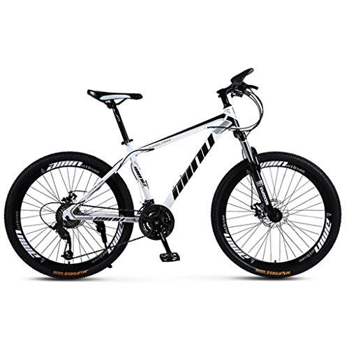 Bicicleta de montaña Mountainbike Bicicleta Bicicleta de montaña, marco de acero al carbono bicicletas de montaña Rígidas, doble freno de disco delantero y Tenedor, de 26 pulgadas * Rueda 1.75inch MTB