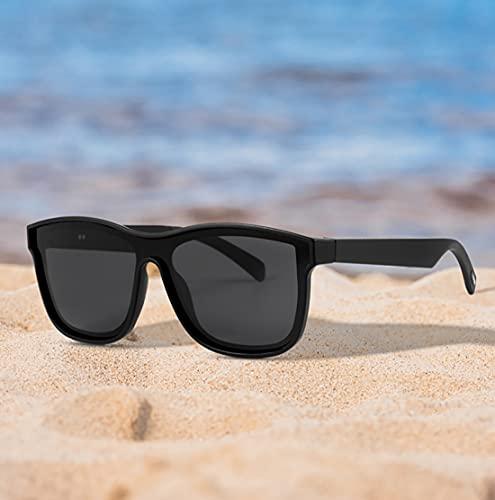 Gafas inteligentes con Bluetooth inalámbricas con auriculares para hombres y mujeres IP5 auriculares con orejas abiertas impermeables con lentes polarizadas para llamar a juegos reuniones