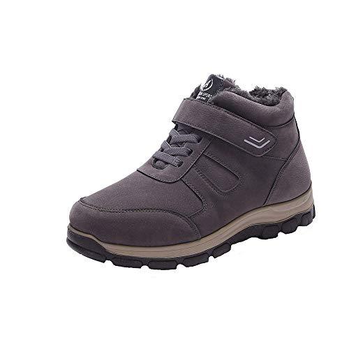 Manadlian Bottes Homme Hiver Neige Imperméable Homme Chaussures de Randonnée Baskets Basses Confortable Chaudes Chaussures Homme Taille 40-48