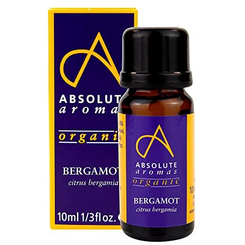 Absolute Aromas Organic Bergamot Essential Oil (citrus bergamia) 10ml - 100% Pure,...