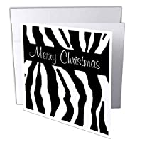 Patricia Sanders Creations – Merry Christmas Zebra Print – グリーティングカード Set of 6 Greeting Cards