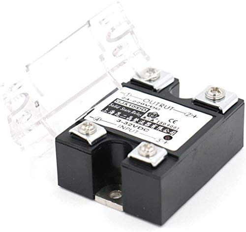 MUKUAI31 SSR-100DD 100A Signal Phase DC Solid State Relay 3-32VDC 24-220VDC DIY