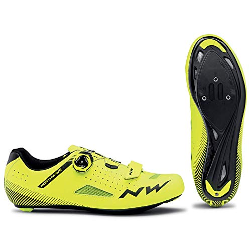 NORTHWAVE Sapatos EST NW Core Plus, Zapatillas Unisex Adulto, Amarillo Fluorescente, 44 EU