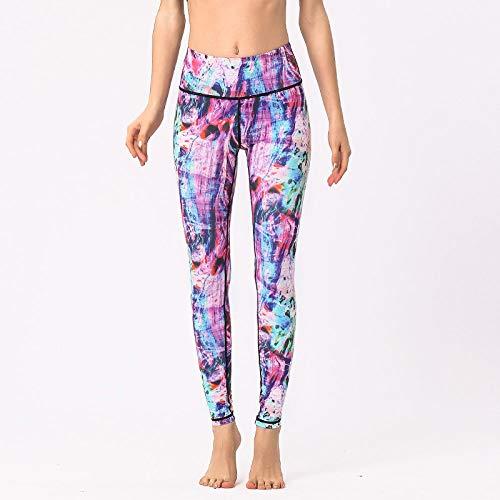 Impresión Pantalones De Yoga para Mujer,Leggings Deportivos para Gimnasio, Retro Abstracto, Color Irregular, con Estampado De Teñido Anudado, Cintura Alta Nórdica Sin Costuras para Control De Abd