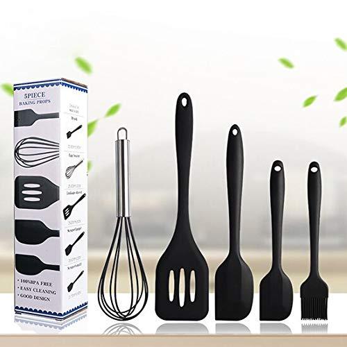 Kit d'ustensiles de Cuisine en Silicone, kit d'ustensiles de Cuisine Pour la cuisson con batteur d'ufs, espátula