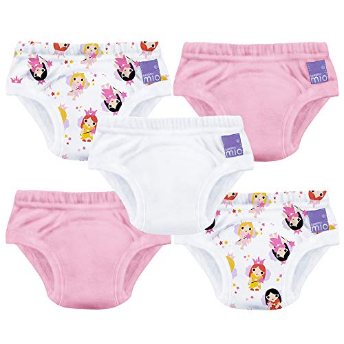 Bambino Mio - Culottes d'apprentissage, Fairy Girl Mix - 2-3 ans - Pack de 5