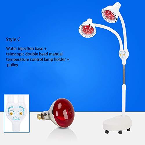 BAOFUR Infrarotlampe Infrarot-Wärmestrahler rotlichtlampe wärmelampe Rotlicht Strahler Infrarotlichttherapie 275W Muskelschmerzen Kälte Relief Lampe Einstellbare Temperatur mit Rollen