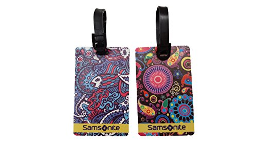 Samsonite Designer Id Tags 2 Pack (One Size, Coral Python (5699))