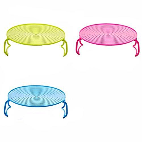 1 soporte doble Da.Wa para platos horneados en microondas, placa de cocción al vapor (color al azar).