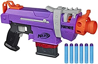 NERF Fortnite SMG-E Blaster -- Motorized Dart Blasting -- 6-Dart Clip, 6 Official Elite Darts -- for Youth, Teens, Adults