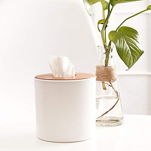 HUIHU Caja de pañuelos Japonesa, Caja de Almacenamiento de Coche para el hogar, Papel de Bombeo, Caja de Bombeo multifunción de Madera de bambú XYXK