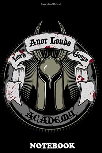Notebook: Anor Londo Academy , Journal for Writing, College Ruled Size 6