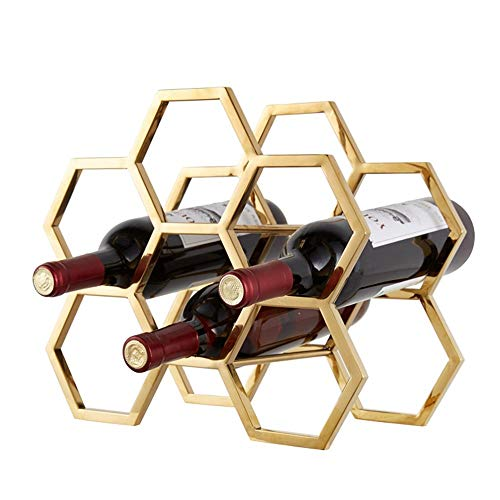 WYZXR Decoración de pared Aplicación 6 botellas de vino Rack – Hierro Multi-función Piso Vino Estante Enfriador Vino Estantes Vajilla