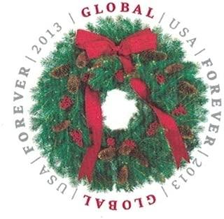 USPS Global Forever Stamp Evergreen Wreath - Sheet of 10