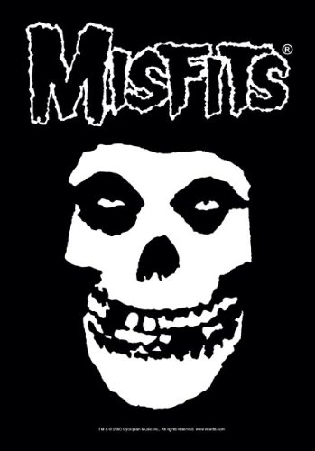 empireposter Misfits - Classic Fiend Skull - Posterflagge 100% Polyester - Grösse 75x110 cm