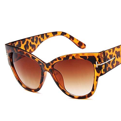 Gafas De Sol Polarizadas Cat Eye Women Sunglasses Female Gradient Points Sun Glasses Big Oculos Feminino De Sol Uv400 Leopard