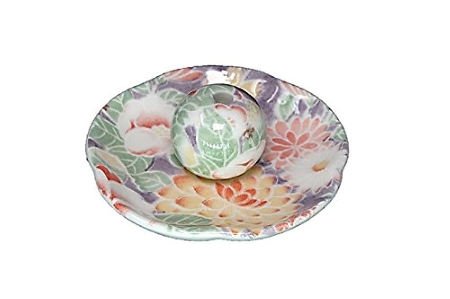 蒸し器フェリー穀物華友禅 花形香皿 お香立て 日本製 製造 直売品