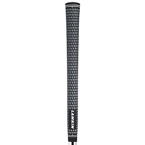 Lamkin Golf Griff Crossline Midsize 1/16 neues Logo, Schwarz/Weiß, One Size