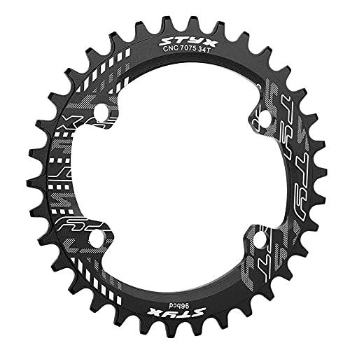 Plato único estrecho BCD de 96 MM de ancho para plato de bicicleta M6000 M7000 M8000, ancho y estrecho 69mm 32/34/36 / 38T