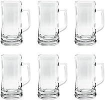 Ocean munich beer mug, pack of 6, clear, 640 ml, p00843