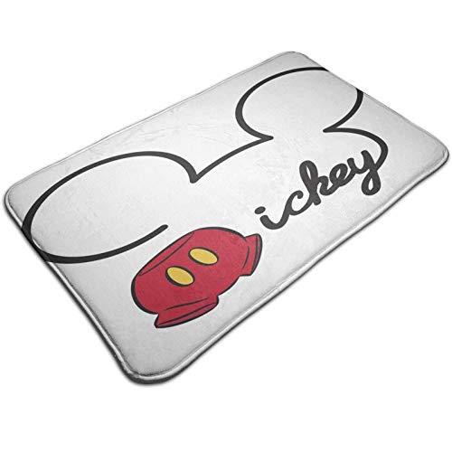Caelpley Alfombrillas De Baño Antideslizantes, Alfombrilla De Baño Súper Acogedora, Suave Y Absorbente, para Bañera, Ducha Y Alfombra De Baño, Figura de Mickey Mouse de Disney
