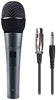 """Professional Dynamic Cardioid Vocal Wired Microphone with XLR Cable (19' XLR-to-1/4"""" cable), MAONO-K04 Metal Cord Mic Plug And Play for Stage, Performance, Karaoke (1Pack)"""