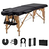 "Massage Table Massage Bed Spa Bed 73"" Long 2 Folding Portable..."