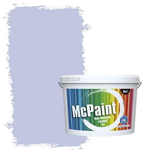 McPaint Bunte Wandfarbe extramatt für Innen Flieder 5 Liter - Weitere Blaue Farbtöne Erhältlich - Weitere Größen Verfügbar