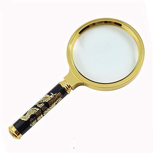 Miroir grossissant détachable haut de gamme gravé dans un miroir grossissant, jaune, 5x (Color : SHANK LENGTH 90MM)