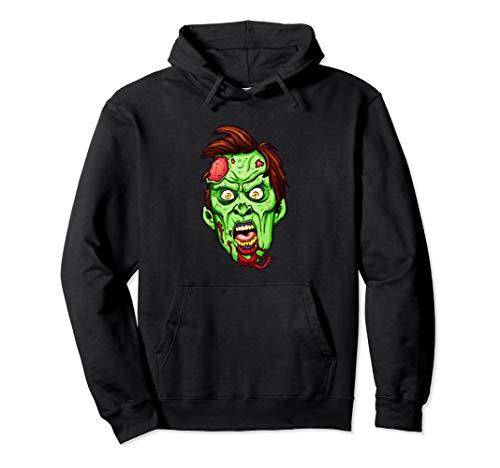 Zombie Kopf Gruseliges Halloween Kostüm Witziges Horror Pullover Hoodie