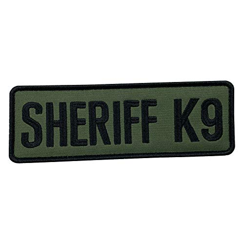uuKen Embroidery OD Green Deputy Sheriff K9 Unit Department Military Morale Patch 6x2 inch with Hook Fastener Back for Tactical Vest Jackets Uniform (OD Green, Medium 6'x2')