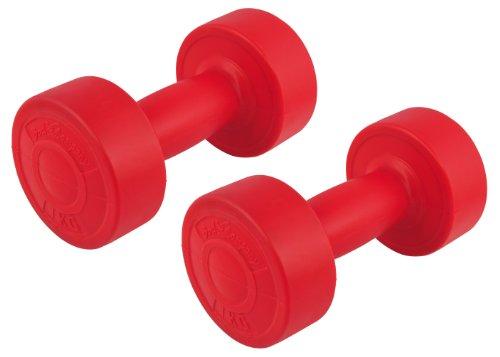 Bad Company Rundhanteln I Kunststoff Hanteln I 2er Set Gymnastikhanteln 1 Kg (2 Kg)