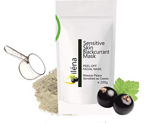 Masque Peel-Off Masque d'Alginate gelifiant en poudre 200 g professionnel et à la maison Masque Visage extracteur points noirs (Masque Peaux Sensibles au Cassis)