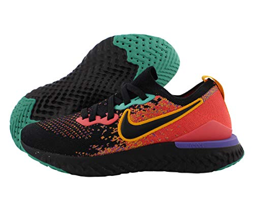 Nike Women's Epic React Flyknit 2 Running Shoes (Black/Yellow/Purple, Numeric_7_Point_5)