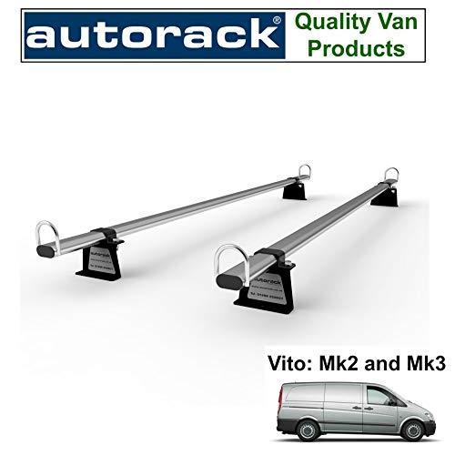 MERCEDES VITO - Portaequipaje para furgoneta (2 barras a partir de 2005 y furgoneta actual)) Autorack WorkReady