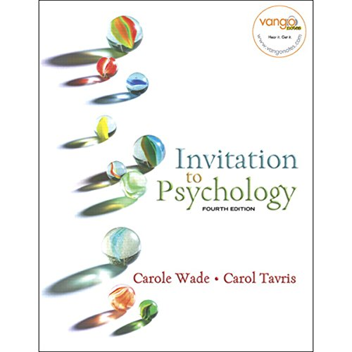 VangoNotes for Invitation to Psychology, 4/e cover art