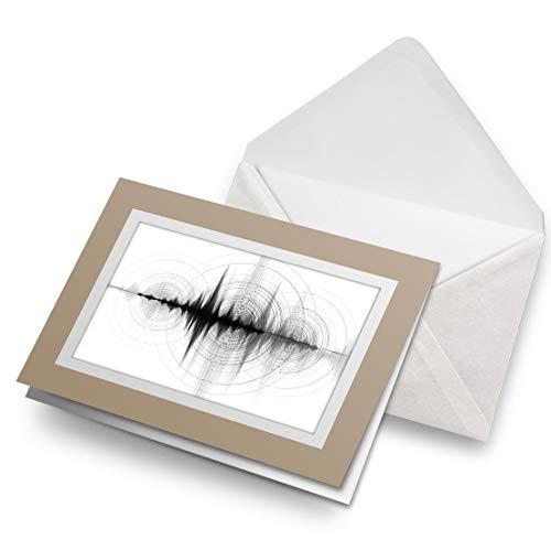 Awesome Greeting Cards - Tarjeta de felicitación en blanco con diseño de longitud de onda con sonido de audio, tarjeta de felicitación de cumpleaños para niños y niñas #14328