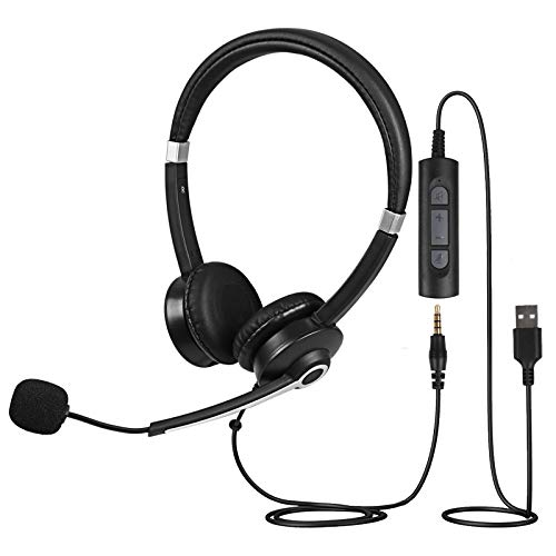 Infurture Computer Headset with Noise Cancelling...