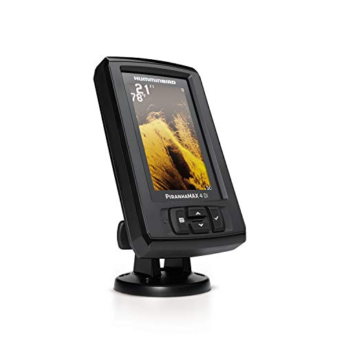 Humminbird 410160-1 PIRANHAMAX 4 DI (Down Imaging) Fish Finder, Black