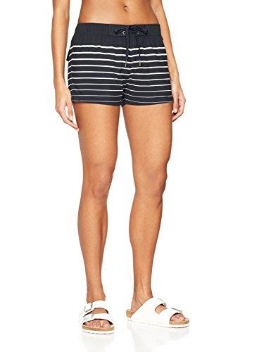 Marc O'Polo, Body & Beach Damen W-Beach Shorts. Schwarz (Blauschwarz 001), 40 (Herstellergröße L)